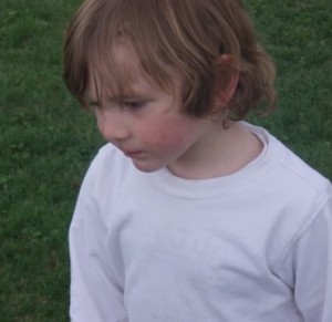Child looking contemplative