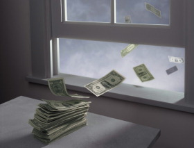 Money going out the window